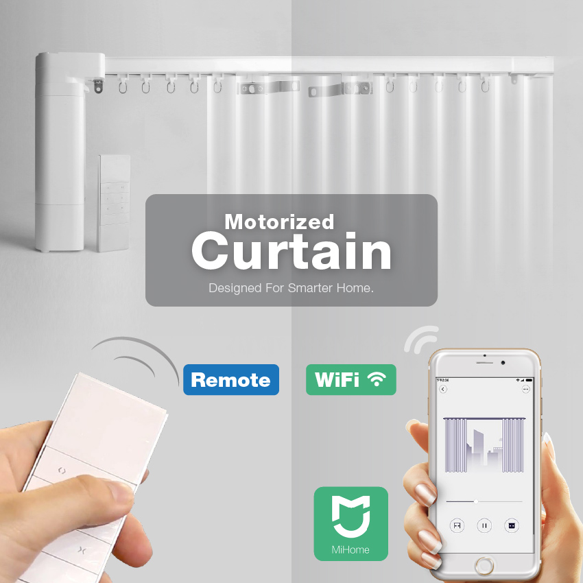 Electric Motorized Curtain System For Smart Home