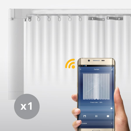 WIFI Smart Motorized Curtain by AHD Malaysia Package 01