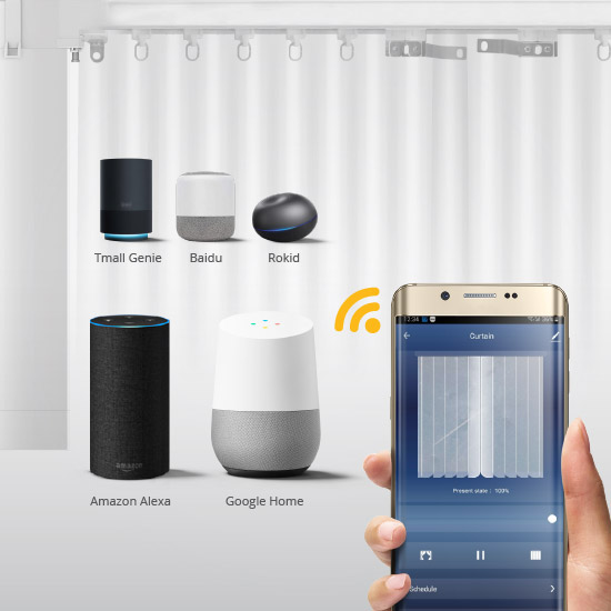 AHD WIFI Curtain Smartlife TuyaHome